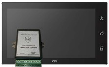 Комплект CTV M4102FHD Smart Security Urmet 1038 Чёрный