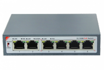 4 порта PoE Switch BAS-IP SH-20.4